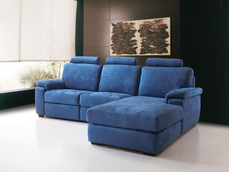 Divano relax comodo basculante e allungabile per studio idfdesign - Divano comodo per tv ...