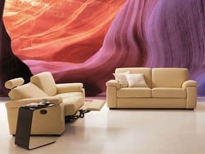 Anais, Divano relax, comodo, basculante e allungabile, per studio