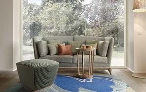 Aston divano, Divano a due posti con base in legno massiccio.