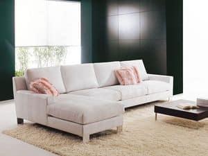 Axel, Confortevole divano da salotto, con isola, su misura
