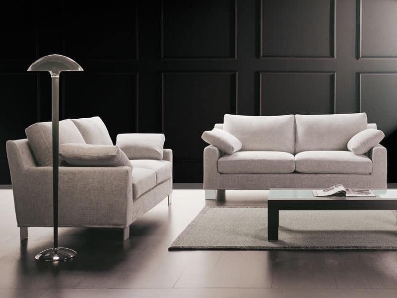 Confortevole divano da salotto con isola su misura - Dimensioni divano con isola ...