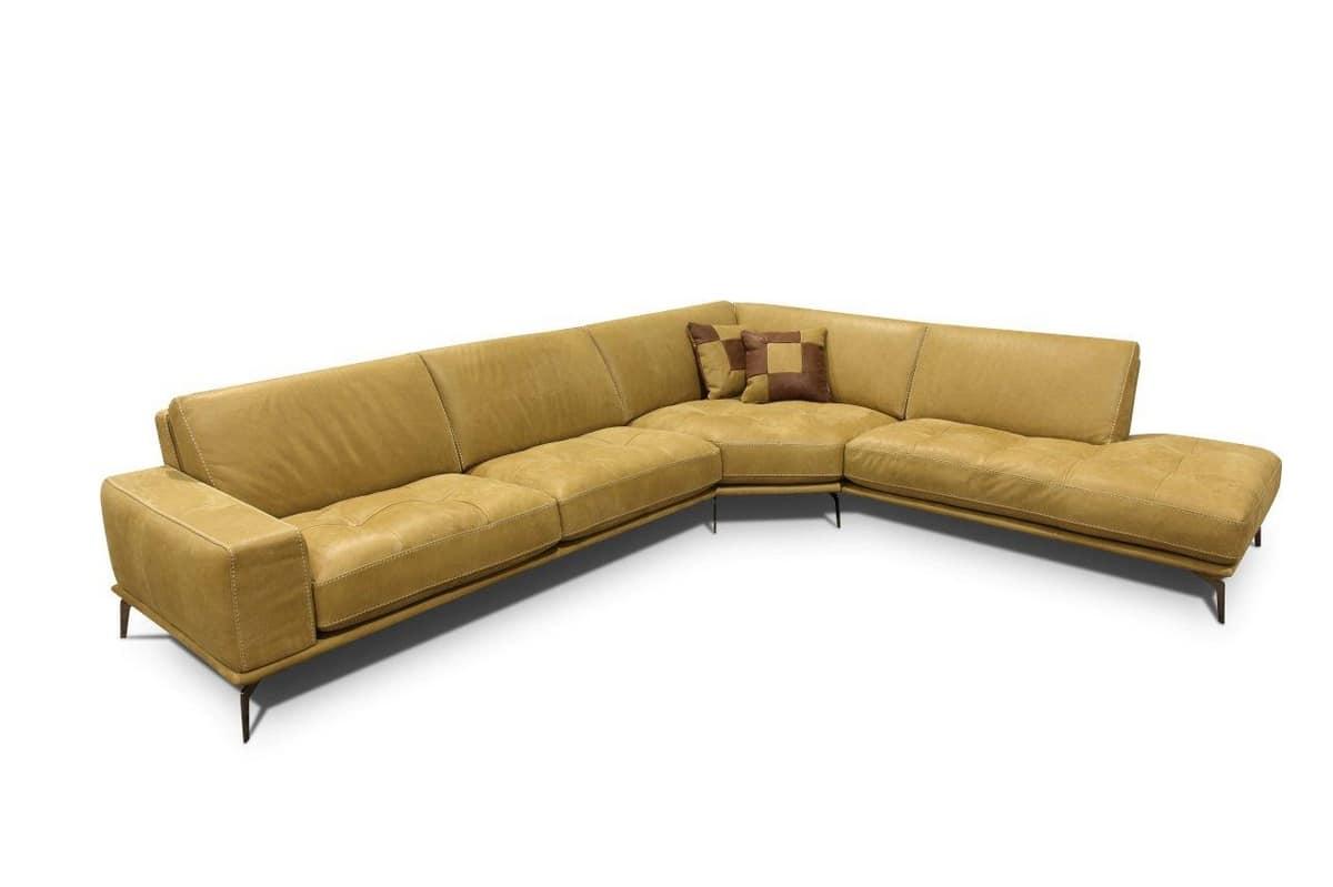 Divano componibile angolare con cuscini rimovibili - Cuscini schienale divano ...
