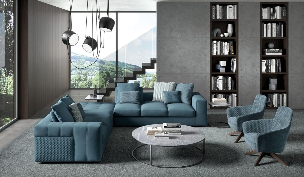Bruce, Morbido e confortevole divano modulare