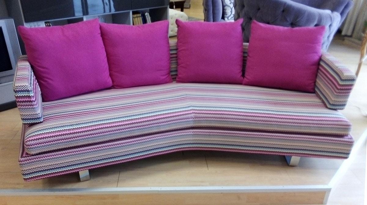 Claudio divano, Divano moderno, rivestito in tessuto