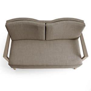 Contour divanetto 2p, Divanetto 2 posti, ignifugo, in legno di frassino