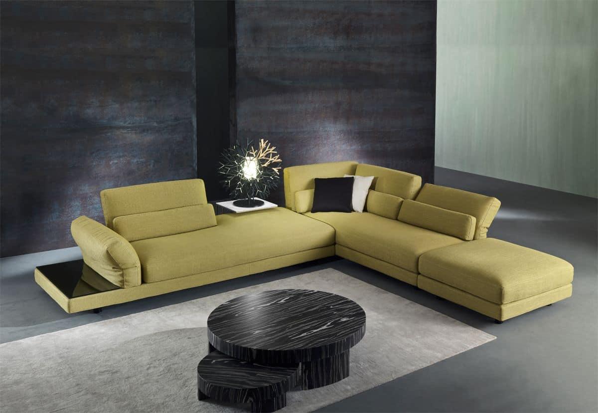 divano in tessuto con meccanismo relax per salotto idfdesign. Black Bedroom Furniture Sets. Home Design Ideas