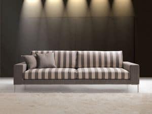 Daytona, Elegante divano da attesa, bracciolo largo, per Ufficio