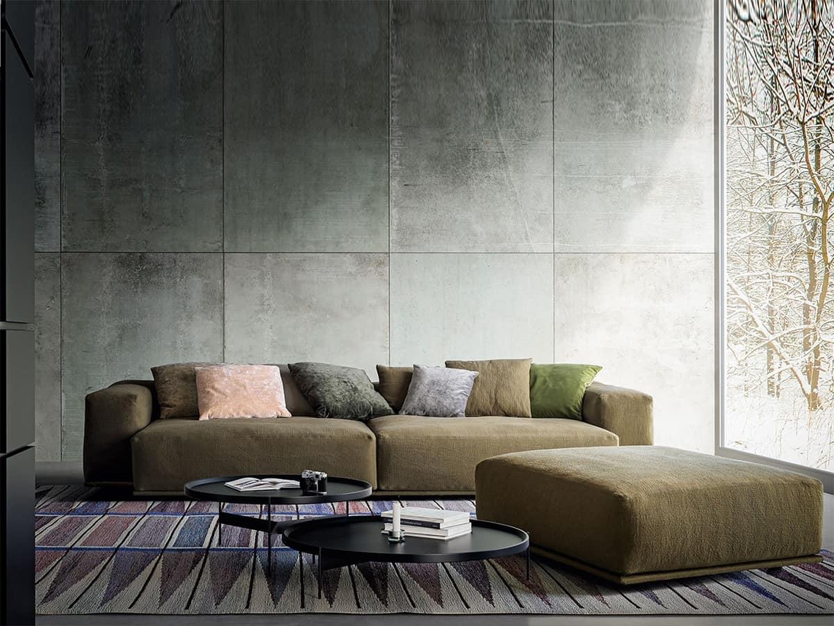 Divano moderno con 2 livelli di schienali per salotti for Divani componibili moderni