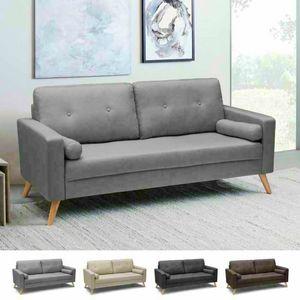 Divano Design Moderno Stile Scandinavo In Tessuto 3 Posti Per Salotto E Cucina ACQUAMARINA, Divano stile scandinavo con ampia seduta