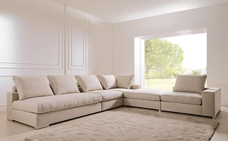 Divano sfoderabile e scomponibile per studio e salotto for Divani angolari design