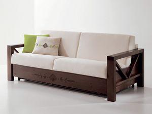 Hollywood personalizzato 01, Comodo divano con struttura in legno personalizabile