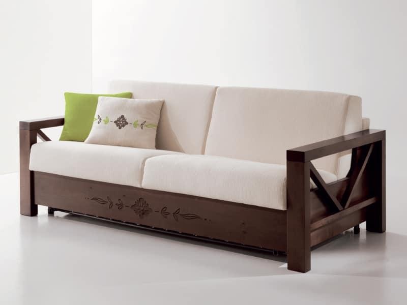 Comodo divano con struttura in legno personalizabile idfdesign - Divano ikea con struttura in legno ...