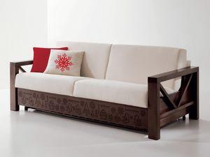 Hollywood personalizzato 02, Speciale divano in legno con intagli personalizzati