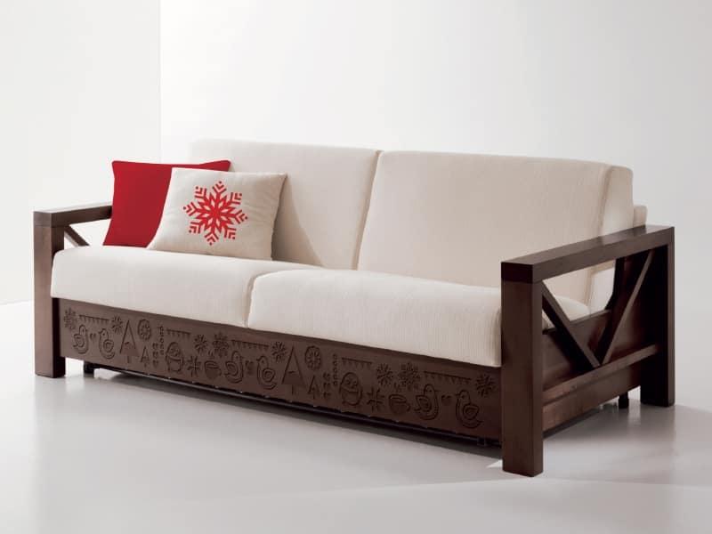 Speciale divano in legno con intagli personalizzati | IDFdesign