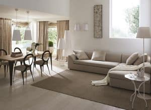 Instanbul divano, Divano angolare con struttura in legno, stile moderno