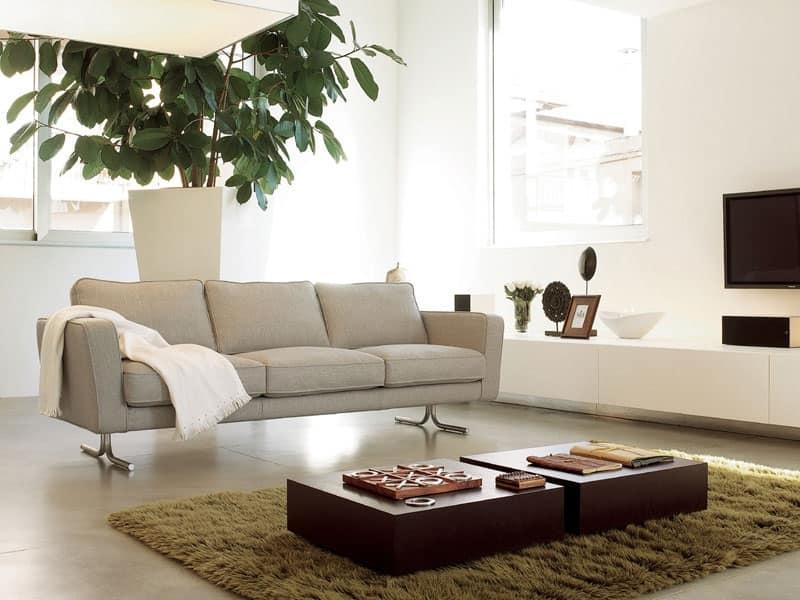 Divano con imbottitura in poliuretano rivestito in fibre - Imbottitura divani poliuretano ...