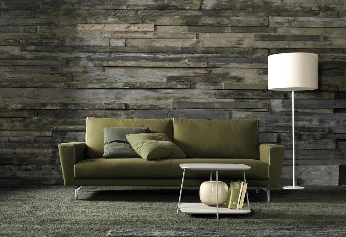 Divani Design Vintage : Kent divano elegante in ecopelle sfoderabile