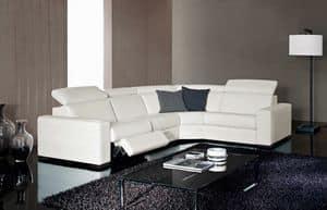 Kline, Divano elegante, regolabile, con funzione relax