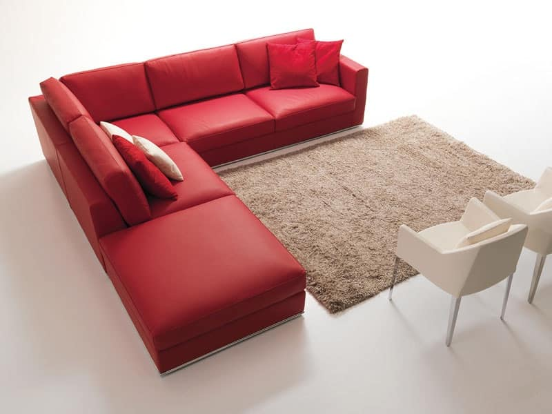 Divano Rosso Angolare ~ Idee per il design della casa