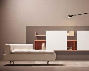 Lille divano, Elegante divano per sala attesa, componibile per soggiorno