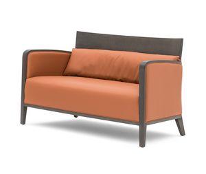 Logica 00952, Divano in legno massiccio per aree attesa e relax