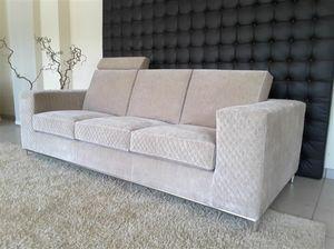Metropolis divano, Comodo divano rivestito in velluto, con poggiatesta