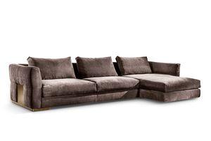 Montecarlo divano angolare, Divano angolare per ambienti classici e moderni