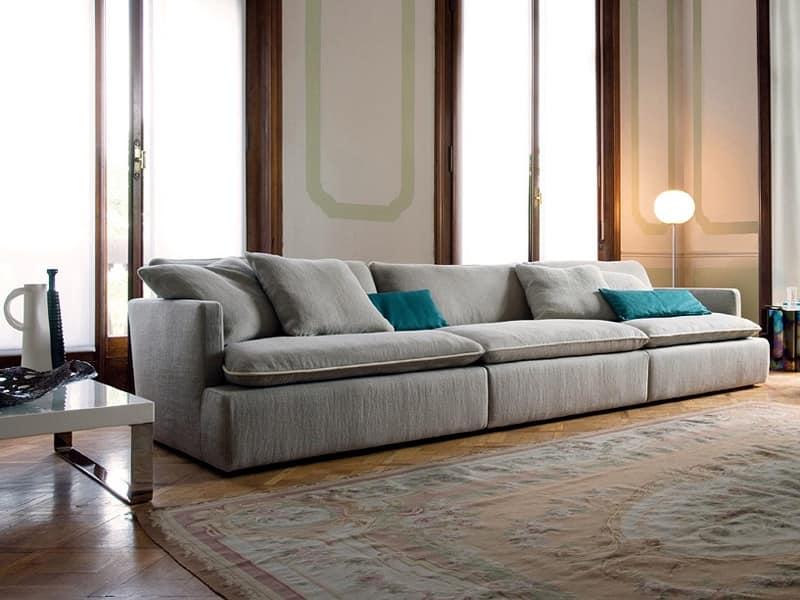 Divano componibile struttura in faggio alto comfort for Divani componibili moderni