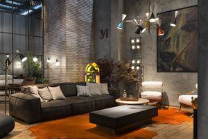 Placido divano, Sobrio ed elegante divano in pelle vintage, con meccanismo relax