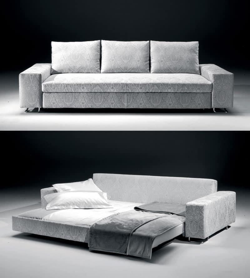 Divani In Legno Moderni : Divano letto in legno e poliuretano per chalet di