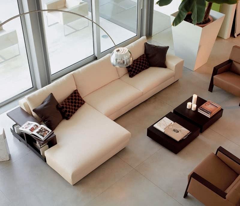 Divano modulare con poliuretano sfoderabile per albergo for Divani moderni grigi