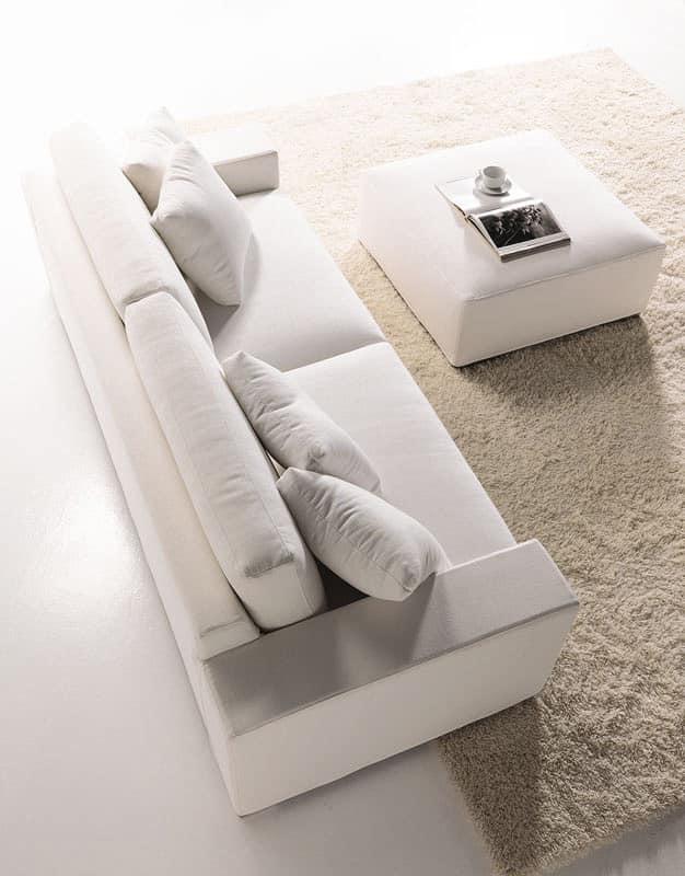 Divano Dal Design Semplice Con Schienale Alto Per La Casa Idfdesign