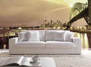 Prestige, Divano dal design semplice, con schienale alto, per la casa