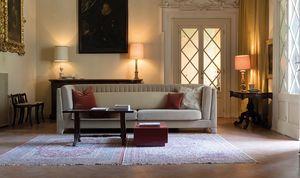 Riva divano, Divano contemporaneo, completamente rivestito in tessuto