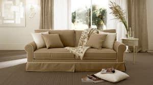 Rivoli sof�, Divano imbottito in poliuretano, cuscini in piuma