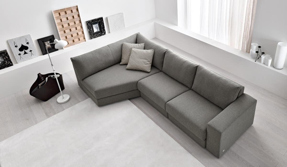 Slide divano con penisola per salotto divano sfoderabile for Divani angolari