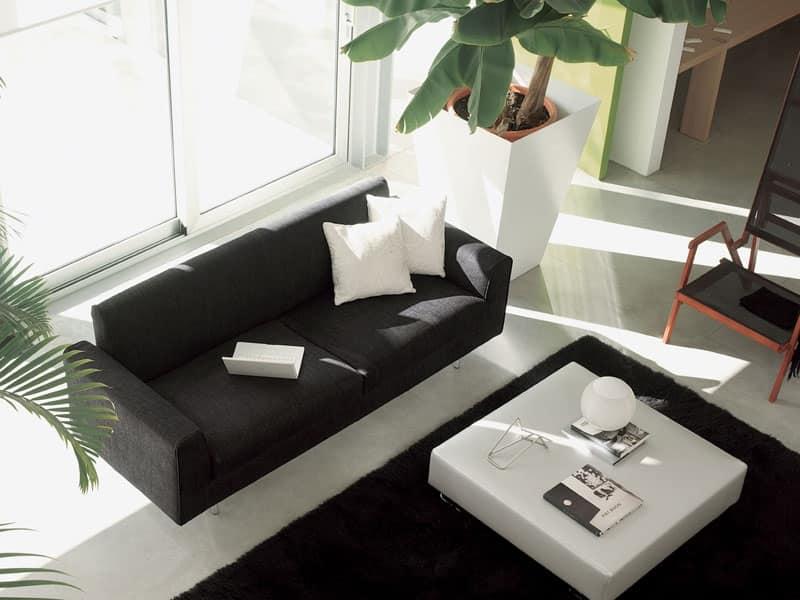 Divano moderno rivestito in pelle per salotto elegante for Salotto elegante