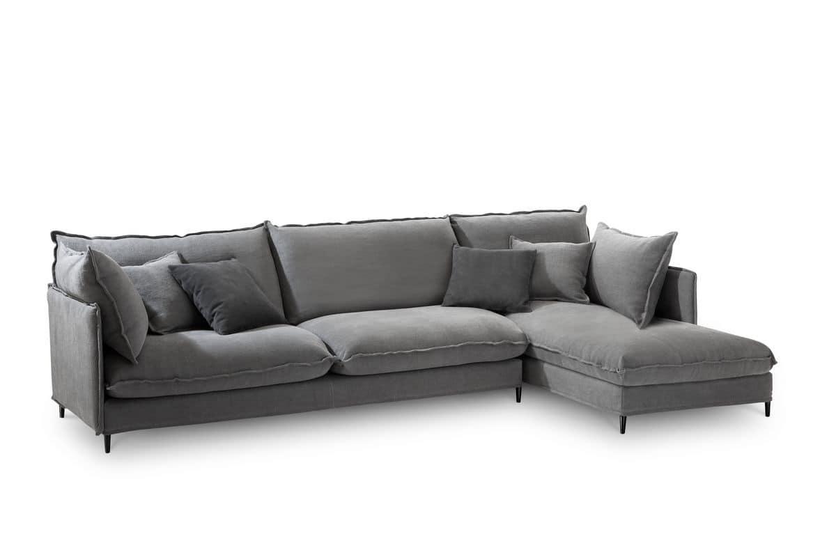 divano moderno angolare struttura in legno per salotti