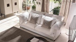 Tango sof�, Divano con struttura in metallo, rivestimento personalizzabile