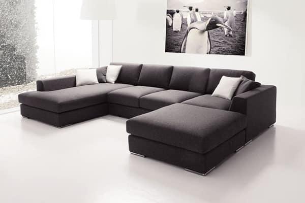 divano con penisola, divano modulare, elegante divano ...