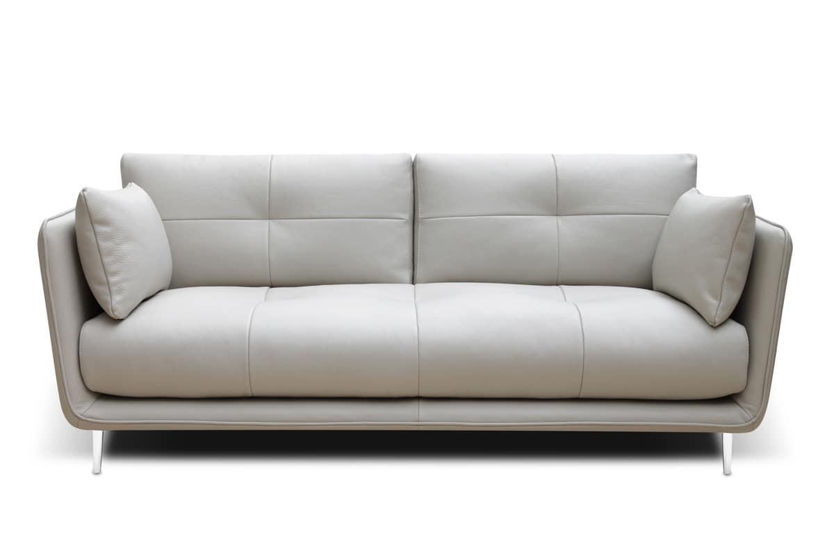 divano in stile semplice imbottito per studio