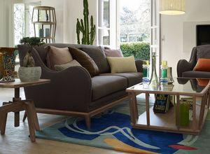 Wave divano, Divano a due posti con base in legno