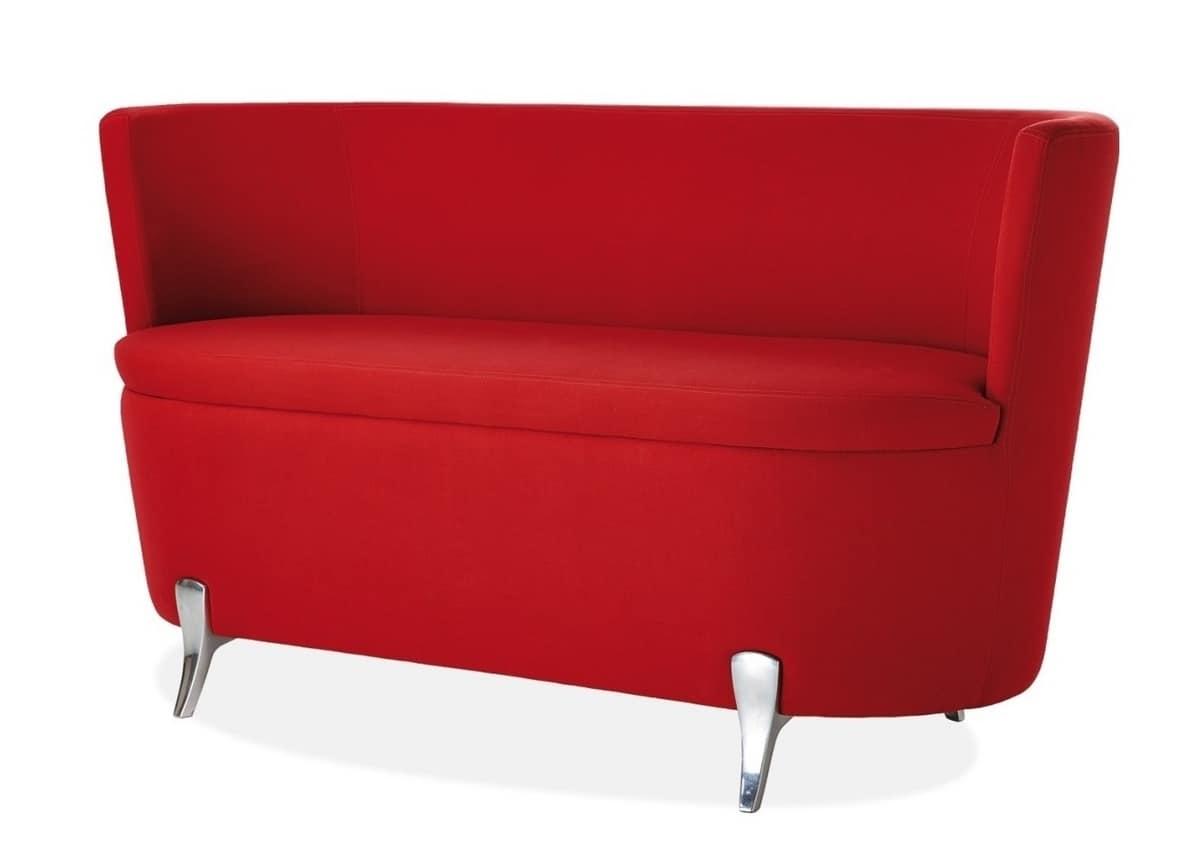 Divanetto a due posti con piedini in alluminio idfdesign - Un divanetto a due posti ...