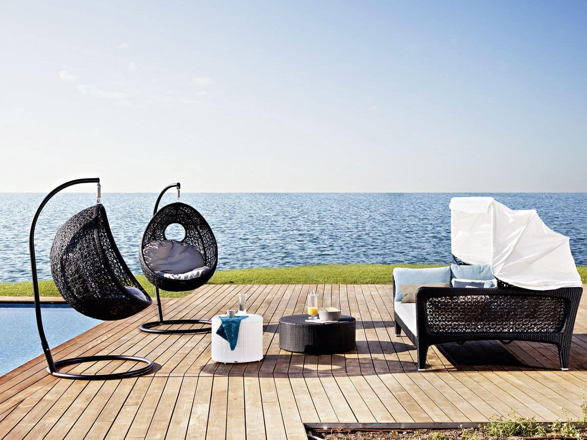 Interni Di Design Quasi Spaziale : Elegant divano rattan per esterni seduta sospesa
