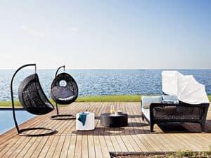 Altea divano letto, Divano letto, con tendina, per la spiaggia ed il terrazzo