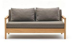 Bali divano, Divanetto per esterni con struttura in teak