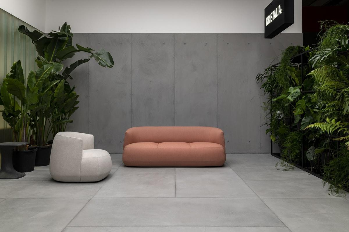 Brioni sofa, Divanetto imbottito per outdoor