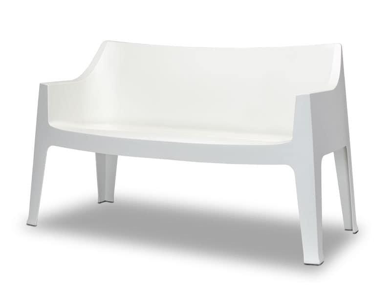 Coccolona divano, Divano stabile e confortevole in propilene, per uso esterno