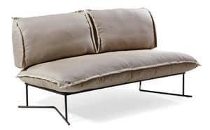Colorado divano 2p, Divano con base in metallo trattato, per esterno