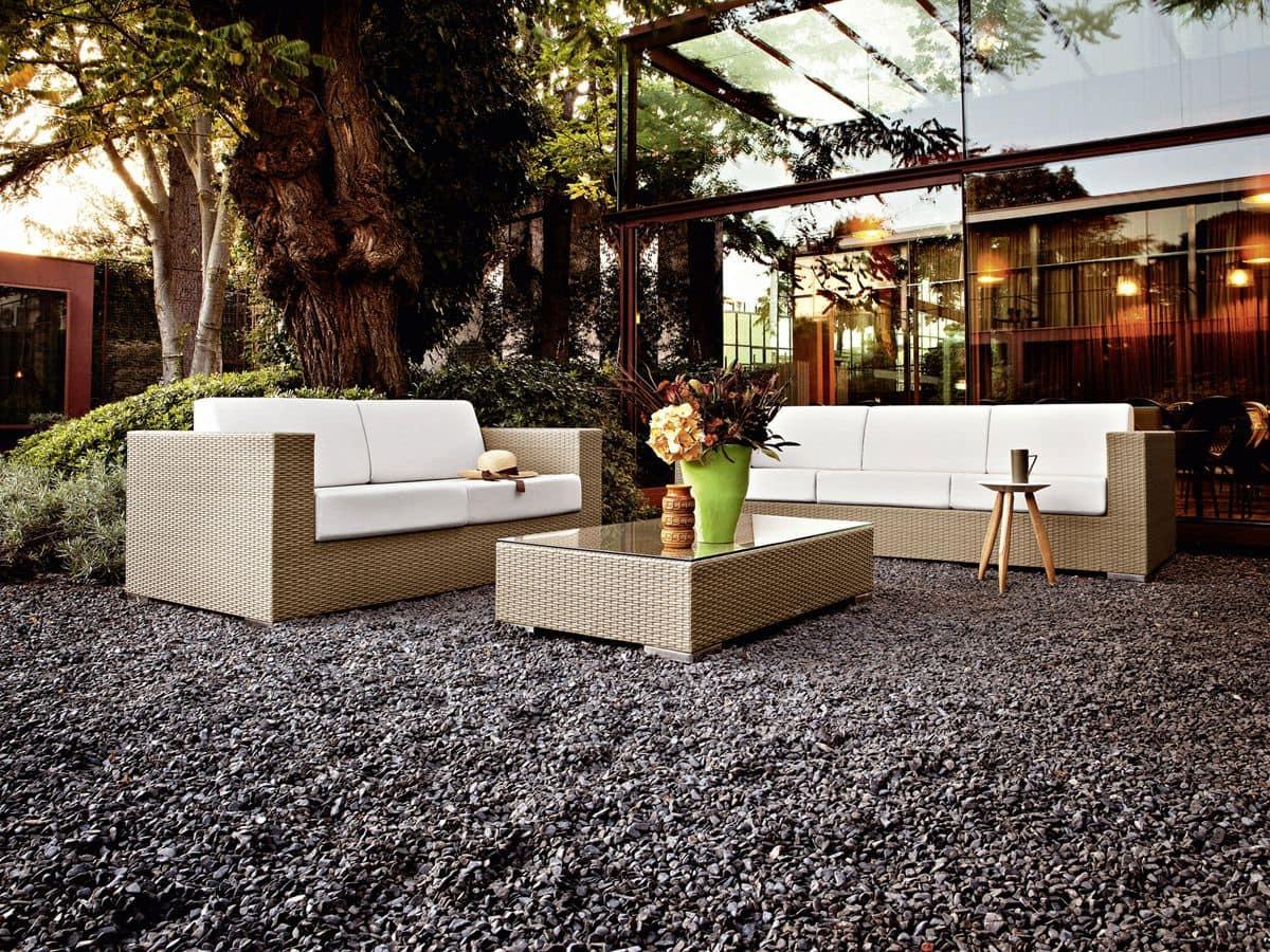 Divano intrecciato 2 posti per giardini e bar sulla for Divano 2 posti amazon